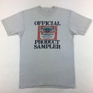 Vintage Budweiser Official Product Sampler T-Shirt